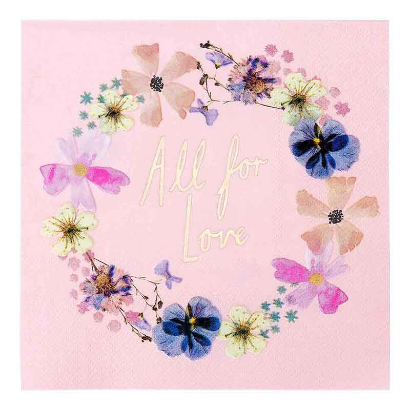 Picture of Talking Tables Blossom Bride Napkins