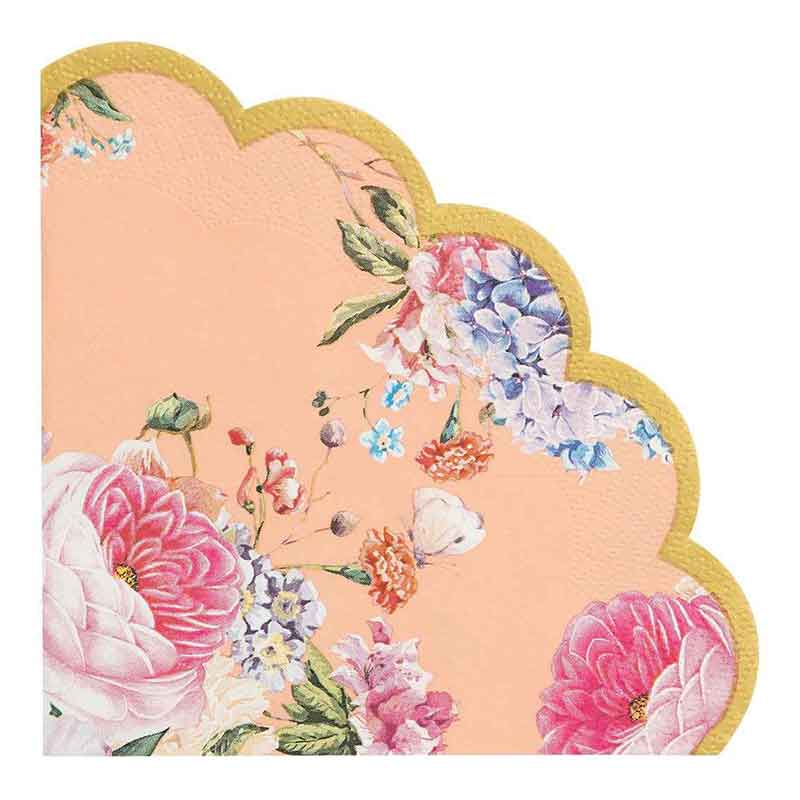 Picture of Talking Tables Pink Floral Scalloped Paper Napkins