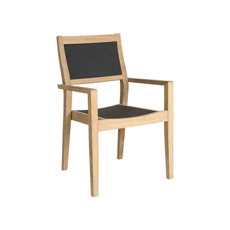 Picture of Alexander Rose Roble SLING HIGH BACK STACKING ARMCHAIR