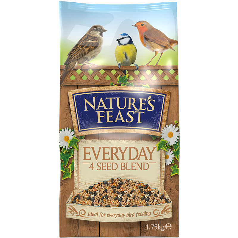 Picture of Nature's Feast Everyday 4 Seed Blend Wild Bird Food