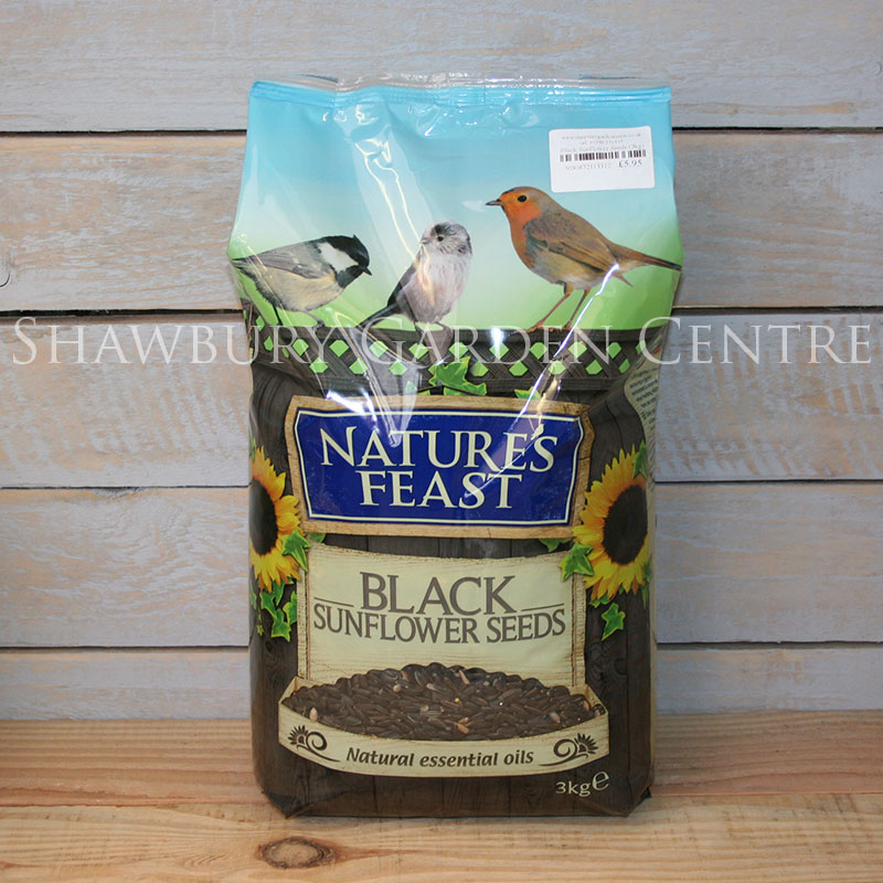Picture of Nature's Feast Whole Black Sunflower Seeds