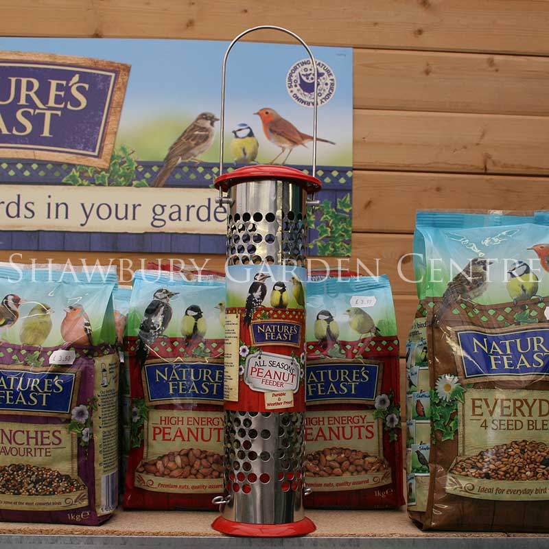 Picture of Nature's Feast All Seasons Metal Peanut Feeder for Garden Birds
