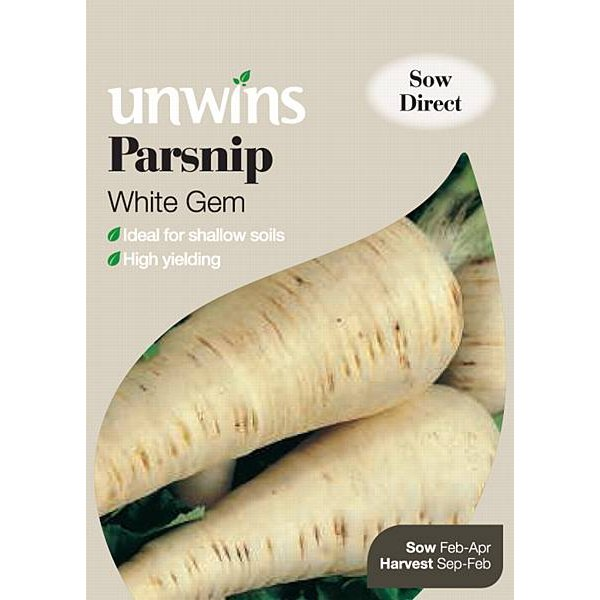 Picture of Unwins 'White Gem' Parsnip Seeds