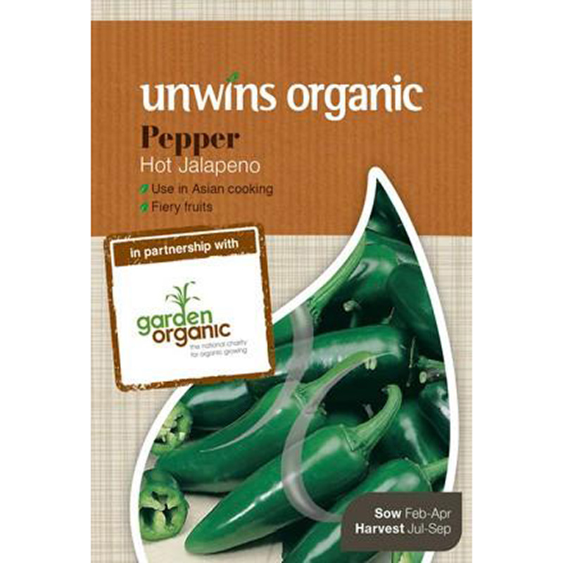 Picture of Unwins Organic Hot Jalapeno Chilli Seeds