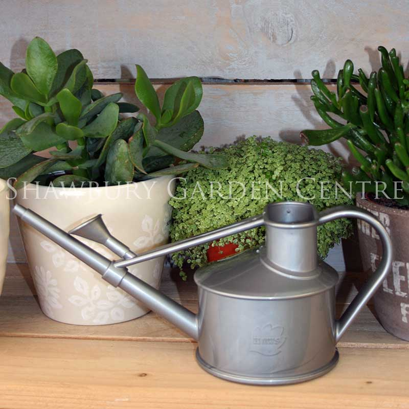 Haws plastic handy indoor watering can 700ml silver for Gardening tools watering