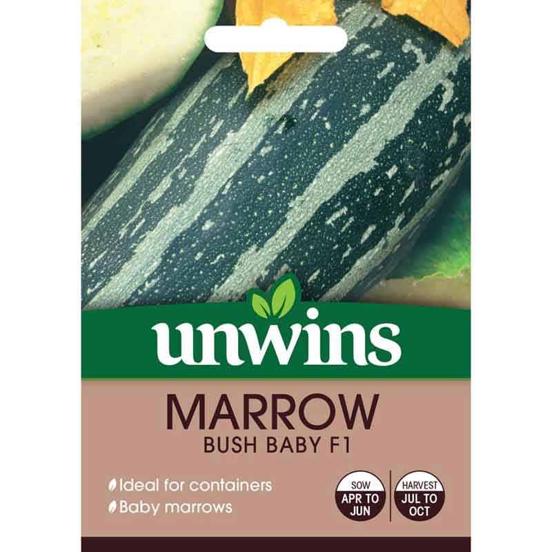 Picture of Unwins Marrow Bush Baby F1 Seeds