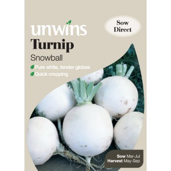 Picture of Unwins TURNIP Snowball Seeds