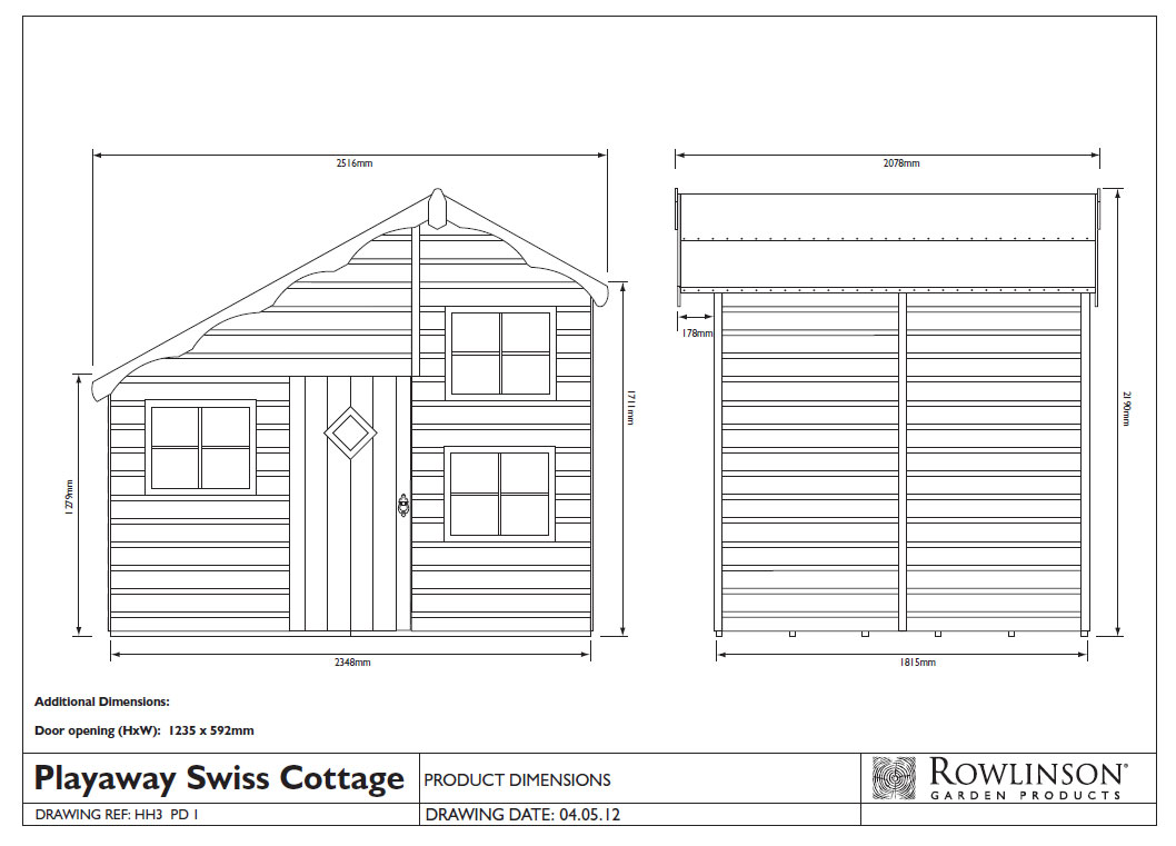 Picture of Rowlinson Playaway Swiss Cottage Playhouse
