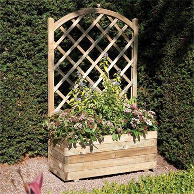 Picture of Rowlinson Rectangular Planter with Trellis Panel
