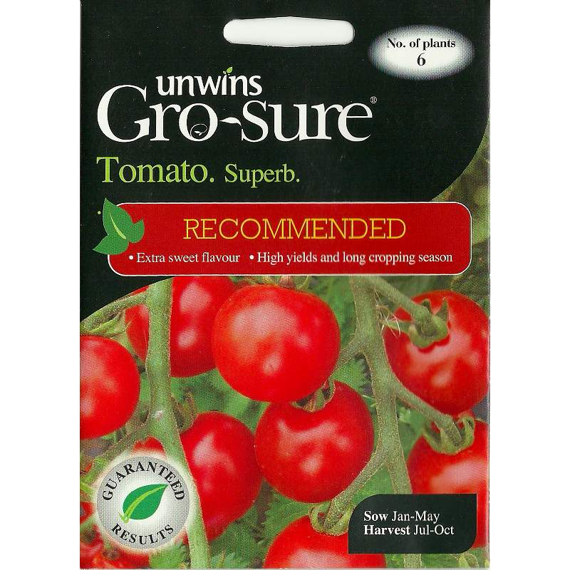 Picture of Unwins Gro-sure 'Superb' Tomato Seeds