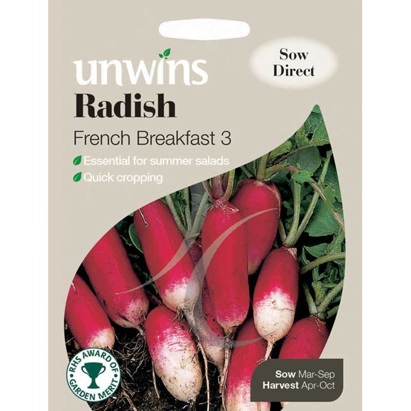 Picture of Unwins 'French Breakfast 3' Radish Seeds