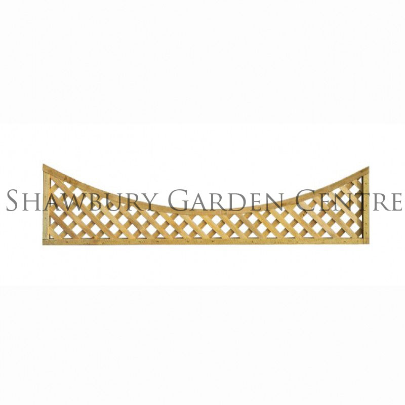 Picture of Grange Alderley Concave (Bow) Trellis Panel