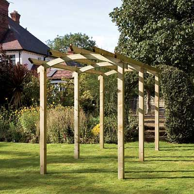 Picture of Grange Bowed Walkway Pergola