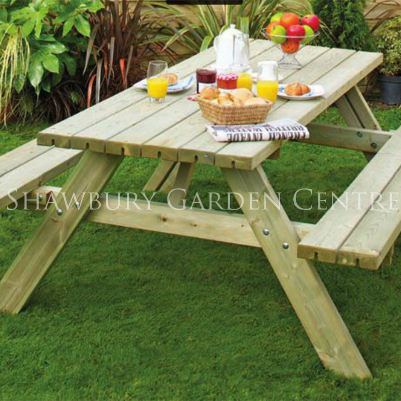 Grange Picnic Table With Fold Up Benches