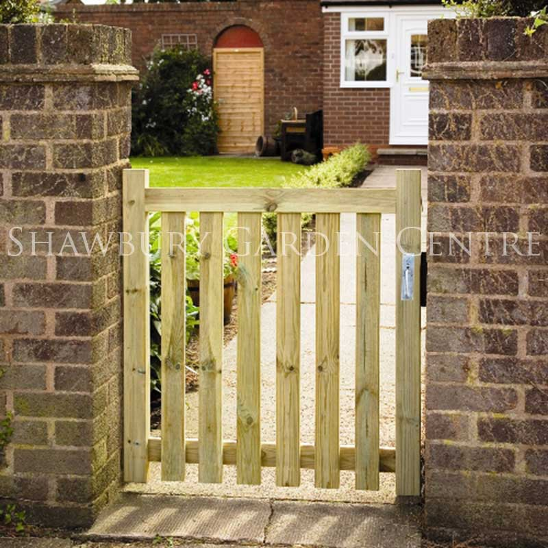 Home Design Gate Ideas: Grange Small Garden Pale Gate
