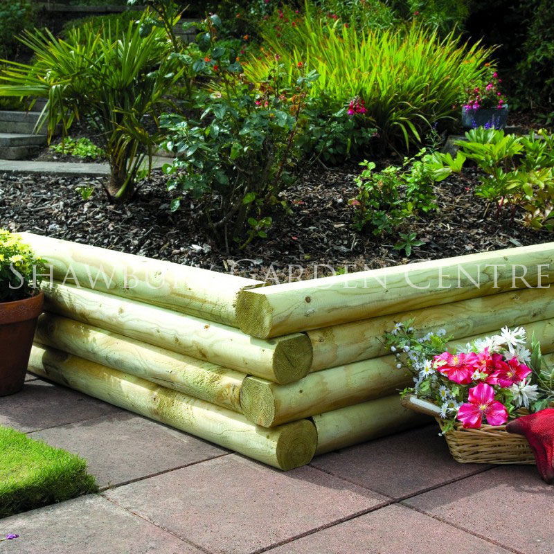 Picture of Grange 1.2m Rounded Garden Sleeper
