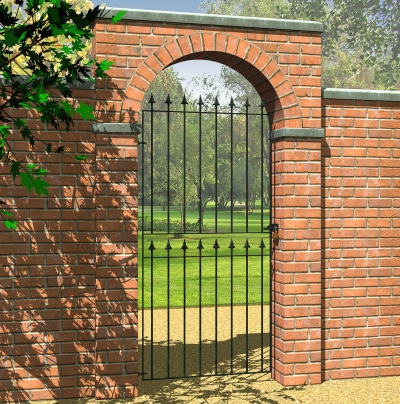 Picture of Grange Montford 'Spear Top' Tall Gate: Narrow
