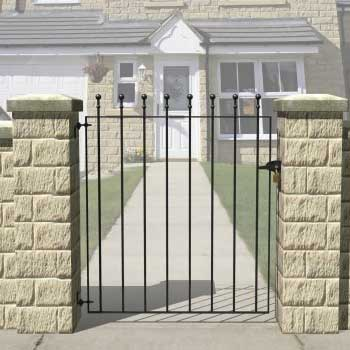 Picture of Grange Wenlock 'Ball Top' Small Gate: Wide