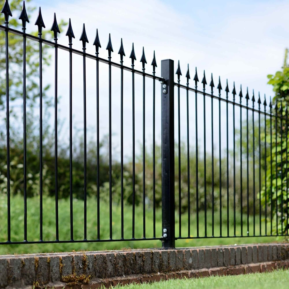 Picture of Grange Montford 'Spear Top' Metal Railings Fence Panel
