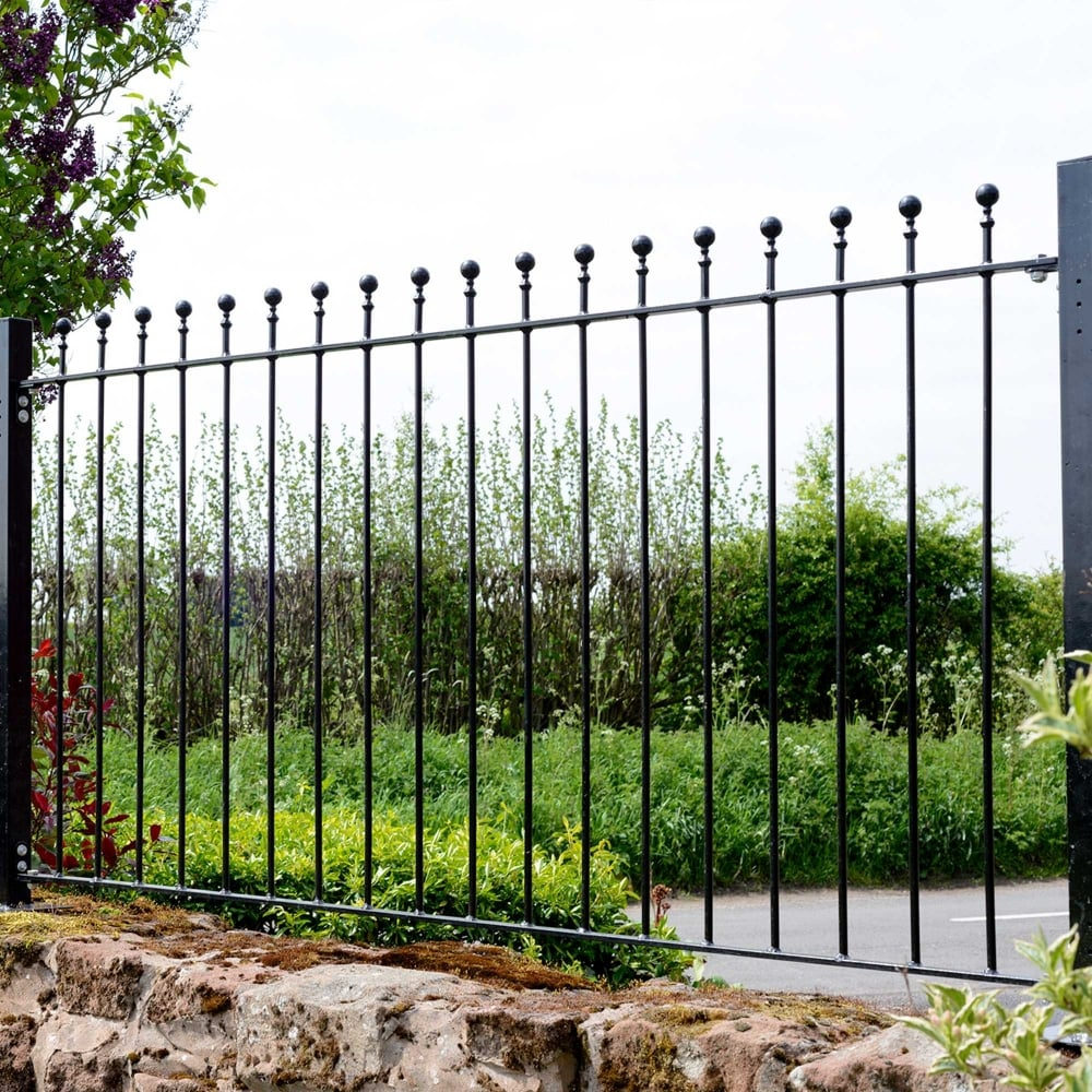 Picture of Grange Wenlock 'Ball Top' Metal Railings Fence Panel