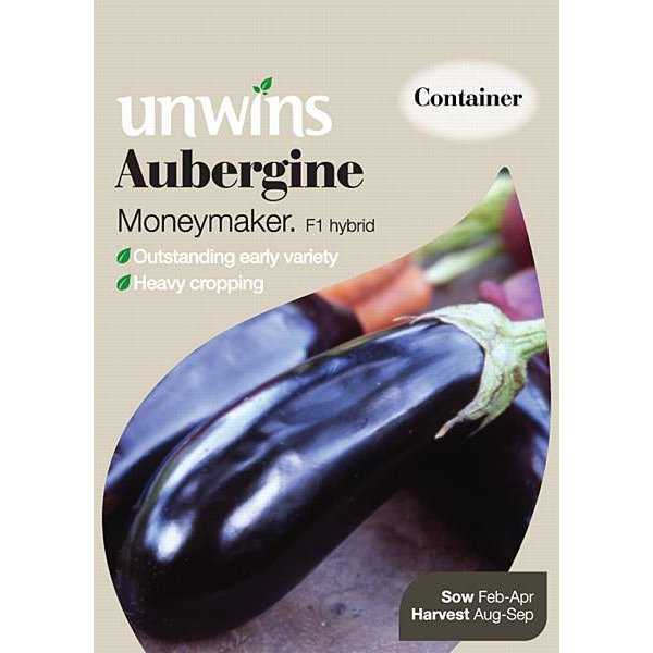 Picture of Unwins 'Moneymaker' Aubergine Seeds