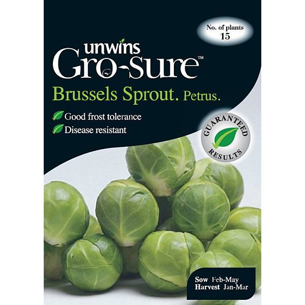 Picture of Unwins 'Petrus' Brussel Sprout Seeds