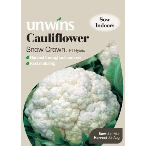 Picture of Unwins 'Snow Crown' Cauliflower Seeds