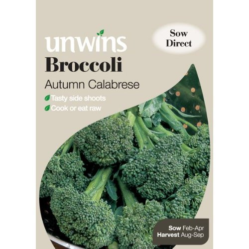 Picture of Unwins 'Autumn Calabrese' Broccoli Seeds