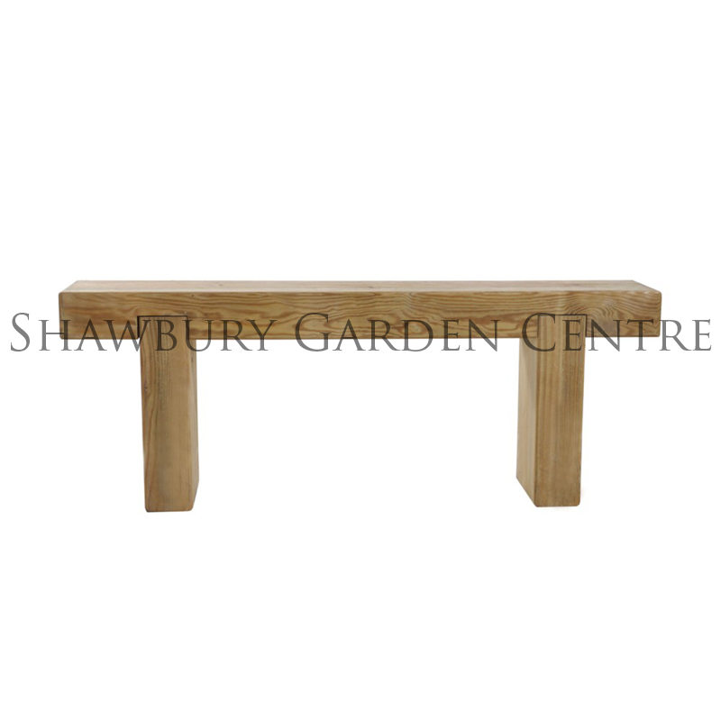 Picture of Forest Garden Wooden Sleeper Bench 1.2m