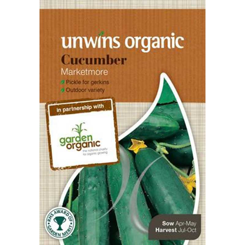 Picture of Unwins Organic 'Marketmore' Cucumber Seeds