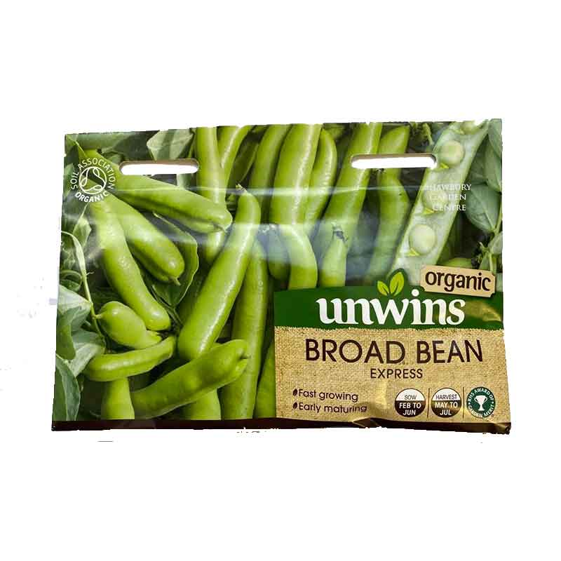 Picture of Unwins 'Express' Organic Broad Bean Seeds