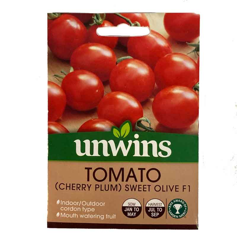 Picture of Unwins Sweet Olive Plum Tomato Seeds