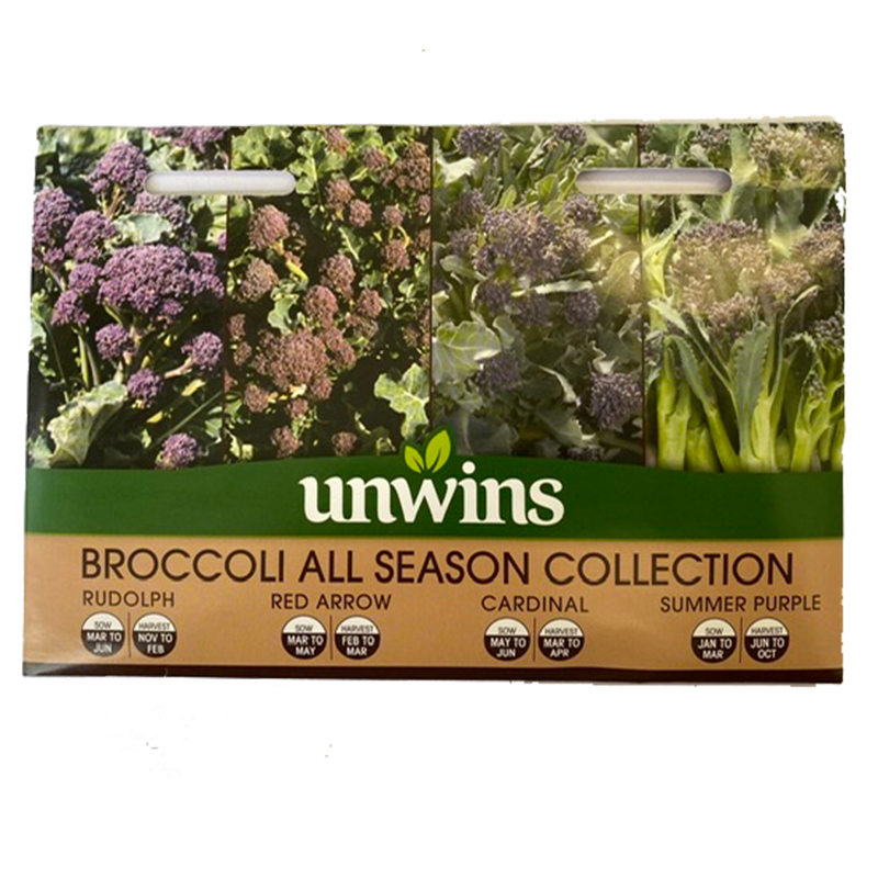 Picture of Unwins BROCCOLI ALL SEASON COLLECTION Seeds