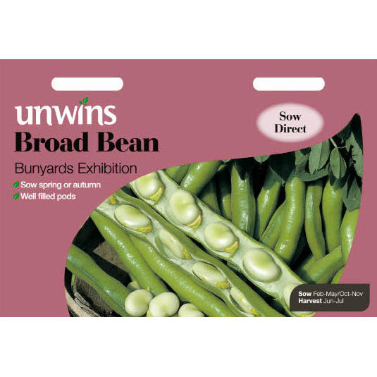 Picture of Unwins 'Bunyards Exhibition' Broad Bean Seeds