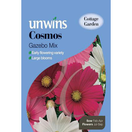 Picture of Unwins 'Gazebo Mix' Cosmos Seeds