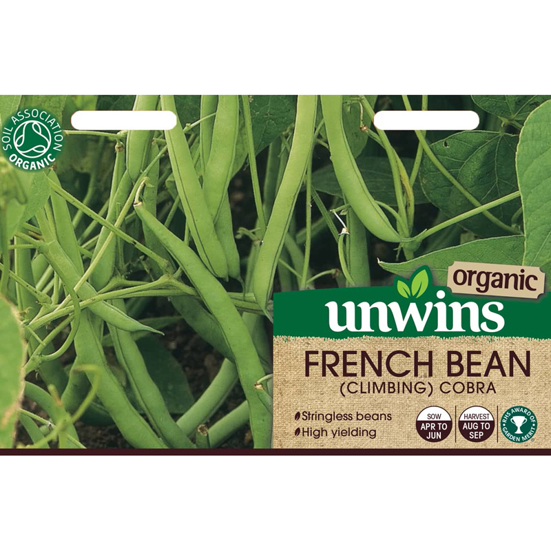 Picture of Unwins Organic 'Cobra' Climbing French Bean Seeds
