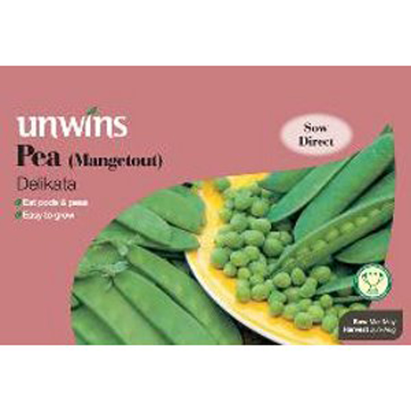 Picture of Unwins MANGETOUT PEA Delikata Seeds