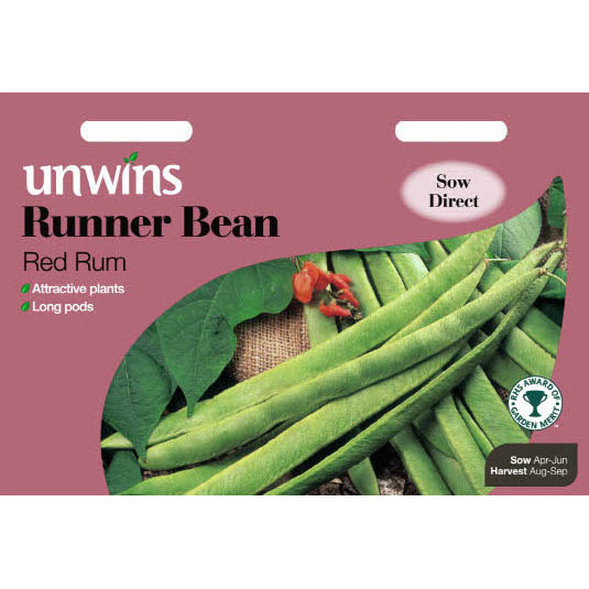Picture of Unwins 'Red Rum' Runner Bean Seeds