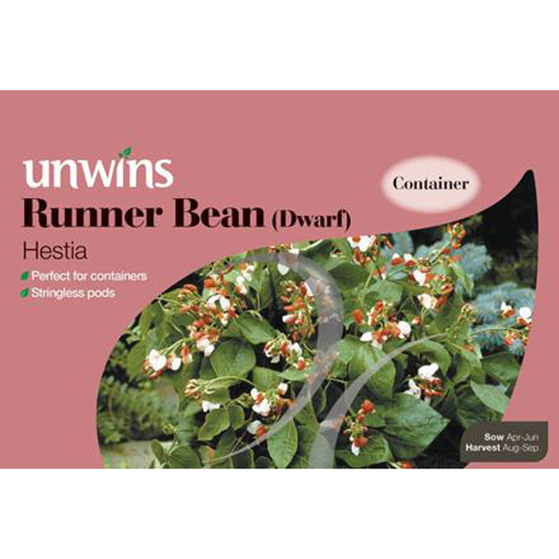 Picture of Unwins 'Hestia' Dwarf Runner Bean Seeds