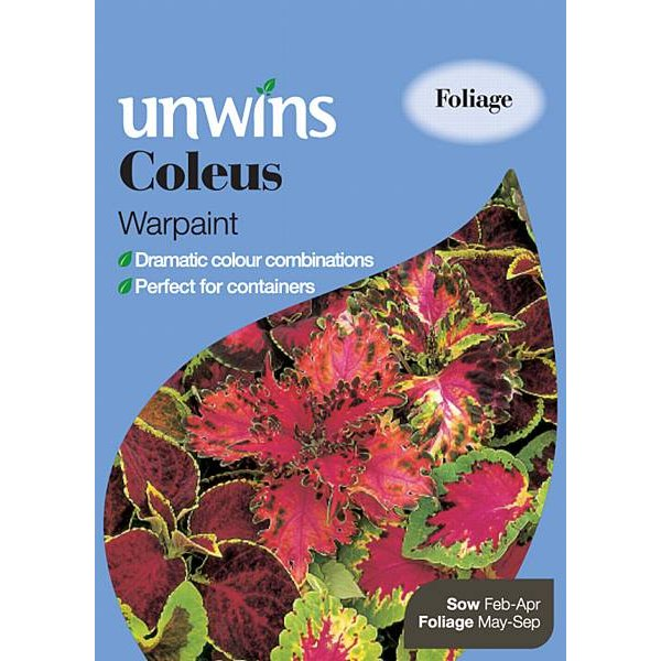 Picture of Unwins Coleus Warpaint Seeds