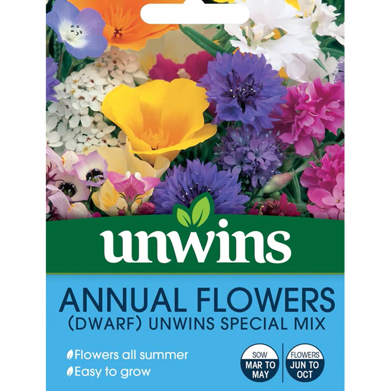 Picture of Unwins Dwarf Annual Flowers 'Special Mix' Seeds