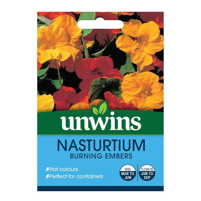Picture of Unwins 'Burning Embers' Nasturtium Seeds