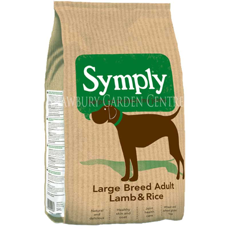 Picture of Symply Lamb & Rice Large Breed Dog Food with Glucosamine