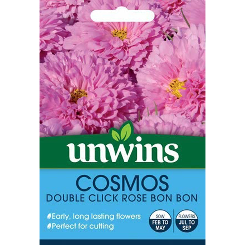 Picture of Unwins COSMOS 'Double Click Rose Bon Bon' Seeds