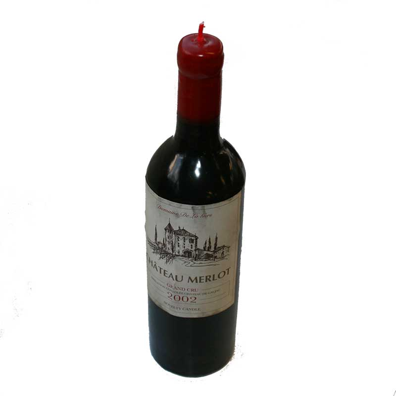 Picture of Wine Bottle Shaped Candle