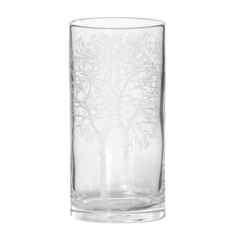 Picture of Etched Tree Hurricane Vase