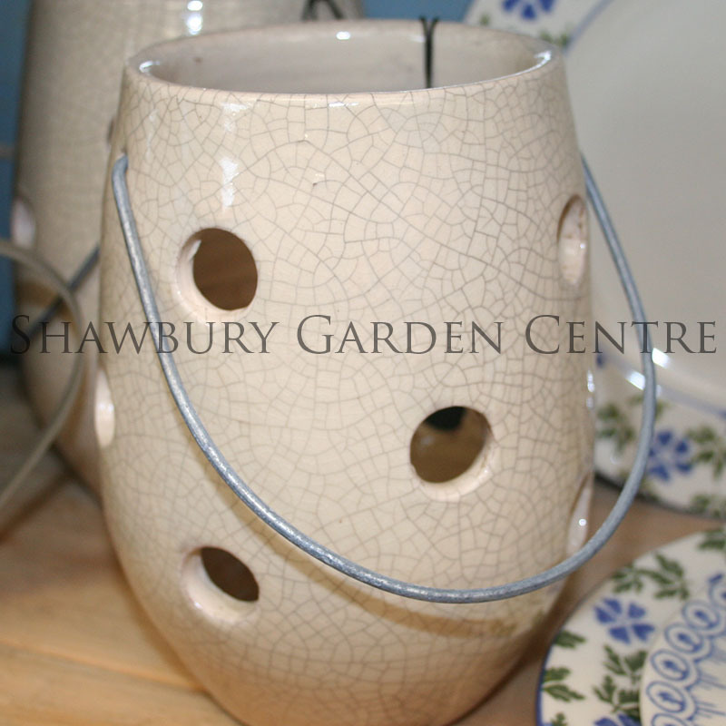 Picture of Parlane Crackle Glaze Ceramic Lantern