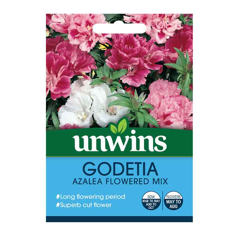 Picture of Unwins 'Azalea Flowered Mix' Godetia Seeds