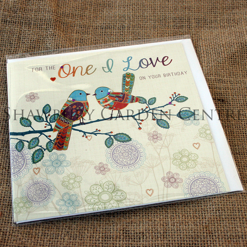 Picture of Jackie Bellamy Designs Jewel 'For the One I Love' Birthday Card