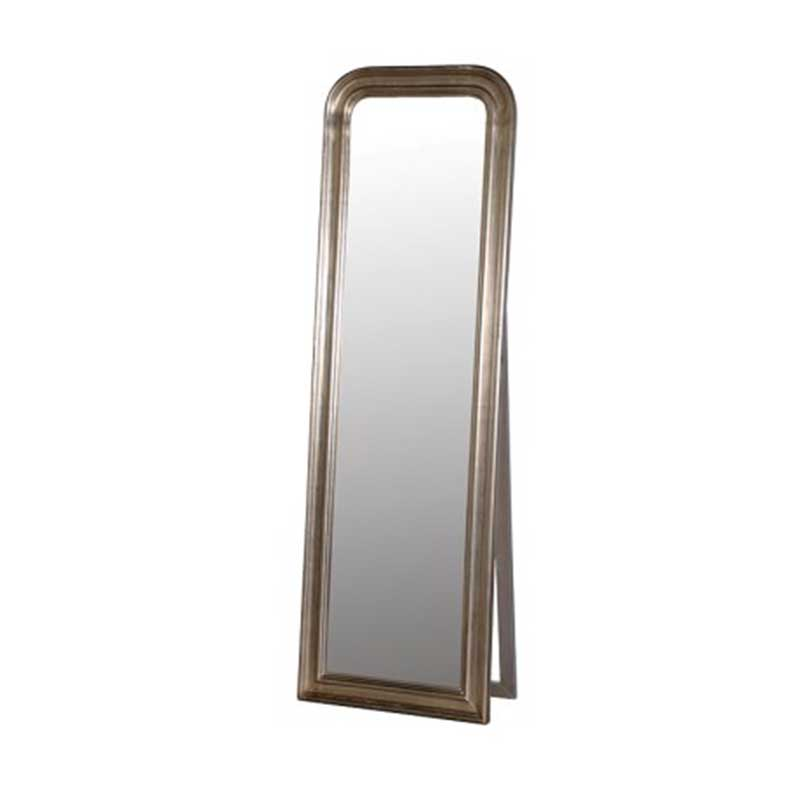 Picture of Antique-Effect Silver Floor Standing Mirror